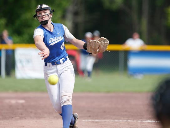 Ichabod Crane's Calista Phippen pitches during Saturday's