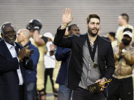 Jay Cutler was inducted into the Vanderbilt Athletic Hall of Fame on Friday March 25, 2016, in Nashville, Tenn.