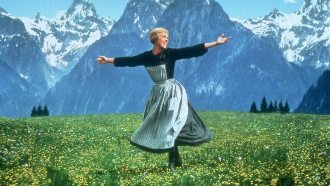 "Julie Andrews in a scene from the 1965 motion picture ""The Sound of Music."""