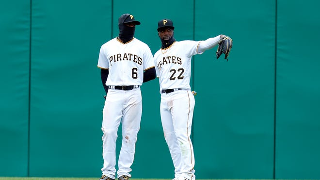 Starling Marte displaced Andrew McCutchen in center field, but McCutchen got his old job back after Marte received an 80-game suspension for steroid use.