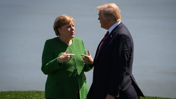 German Chancellor Angela Merkel and President Trump