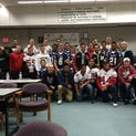 Oak Harbor players show thei support for Marysville-Pilchuck High School