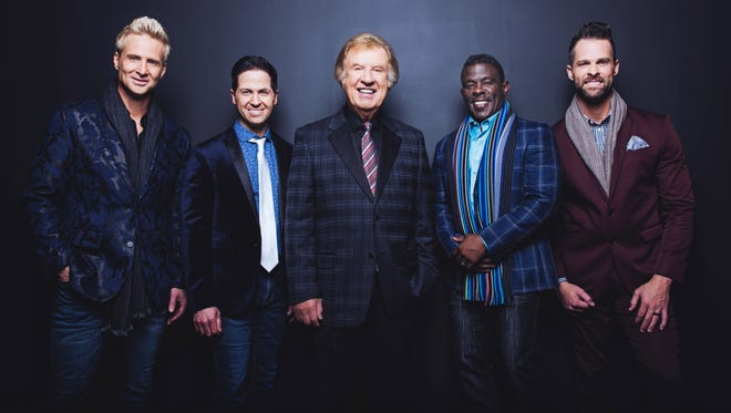 The Gaither Vocal Band will perform at 7 p.m. tonight at the First Baptist Church.