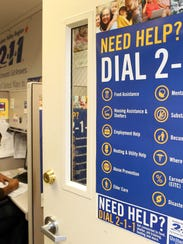 The 211 call center, which helps people in need of