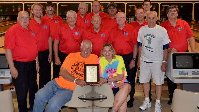 Since 2011, Gumby's Club Fore a Cure has donated more than $50K to area families fighting cancer. The club's founders, Rob and Denise Roseff (seated, center in photo) were recently honored with the Clipper City Chordsmen Harmony Award.