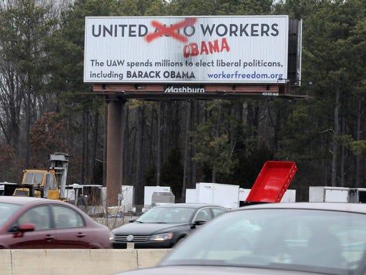 Anti-union billboards