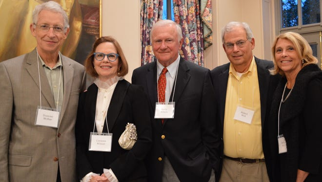 Among those enjoying the Alabama Shakespeare Festival's Donors Party last Thursday evening were, from left, Duncan McRae, Corinna and Barry Wilson, enjoy ASF's 30-year anniversary event.