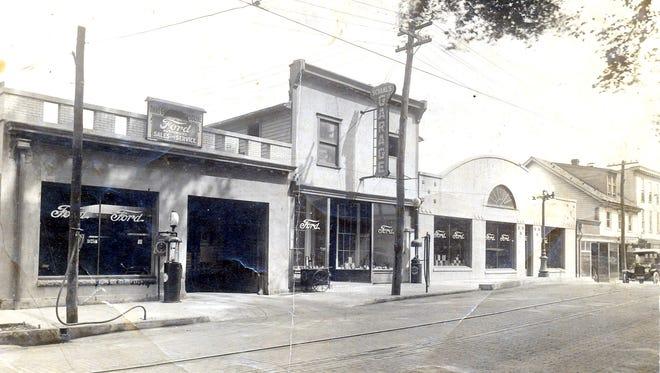 This is what Schaal's Garage looked like in the early 1900s on North Main Street.