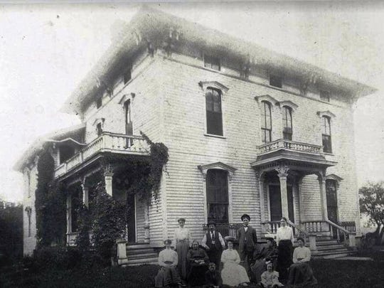 An old photo of 815 North Clinton Street, Grand Ledge. The house was destroyed by fire Tuesday, Feb. 13.