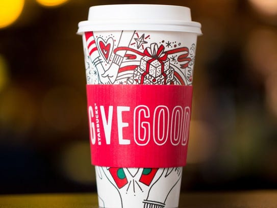New holiday Starbucks cups allow patrons to color in