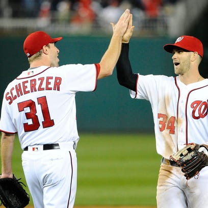 Injury questions hang over Nationals stars Max Scherzer, Bryce Harper