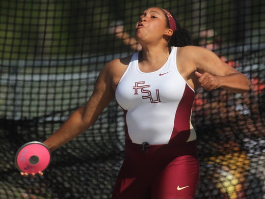 Florida High sophomore Jhordyn Stallworth finished fourth in Class 2A discus at the 2018 FHSAA Track & Field State Championships at UNF.