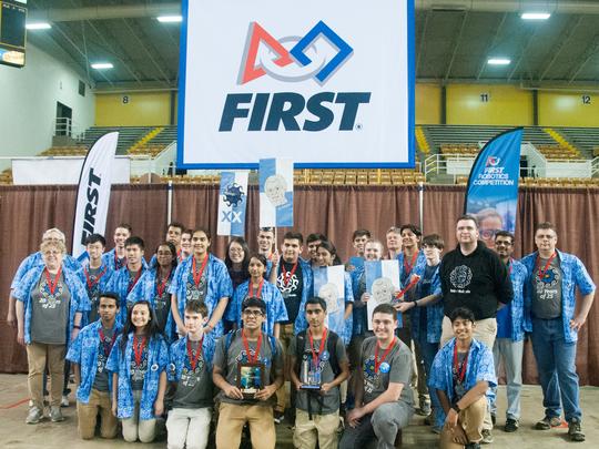 The North Brunswick Township High School's robotics team robot  competed in the World Championships FIRST Robotics Stronghold game April 27-30, in St. Louis