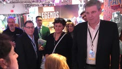 Toys R Us Chief Executive Dave Brandon meets the animated