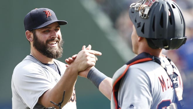Right-hander Michael Fulmer, left, fell just shy of qualifying for the AL ERA title in his rookie season.