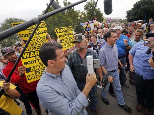 Republican presidential candidate, Wisconsin Gov. Scott