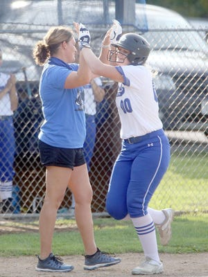 Boonville senior Alexis Albin collected her third home run of the season Thursday night in a 7-0 win over the Versailles Tigers in Tri-County Conference action at Versailles. The Lady Pirates now have 14 home runs on the season by seven different players.