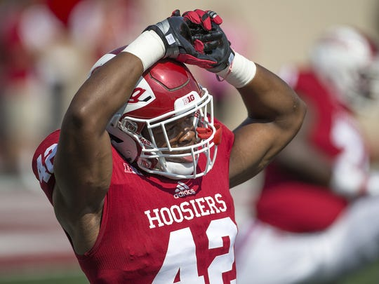 Hoosiers' Marcelino Ball will lead IU's defense from the husky position.