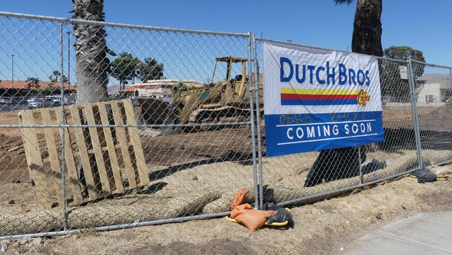 Construction of the High Desert's first Dutch Bros. Coffee drive-thru stand has begun in the Apple Valley Square Shopping Center on the  northwest corner of Bear Valley and Navajo roads.