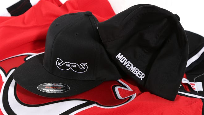 Adam Henrique's limited edition Movember Hat.