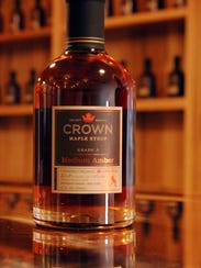 Crown Maple Syrup photographed in the tasting room
