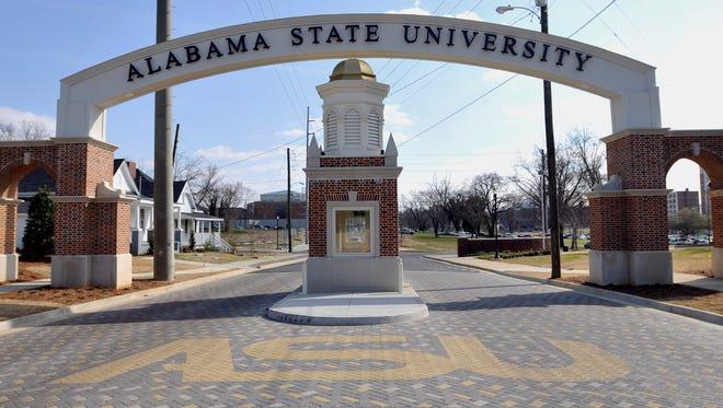 Alabama State University's Hall Street entrance.