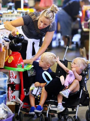 The Community Hospice Giant Garage Sale draws big crowds annually, but will not be held this year.