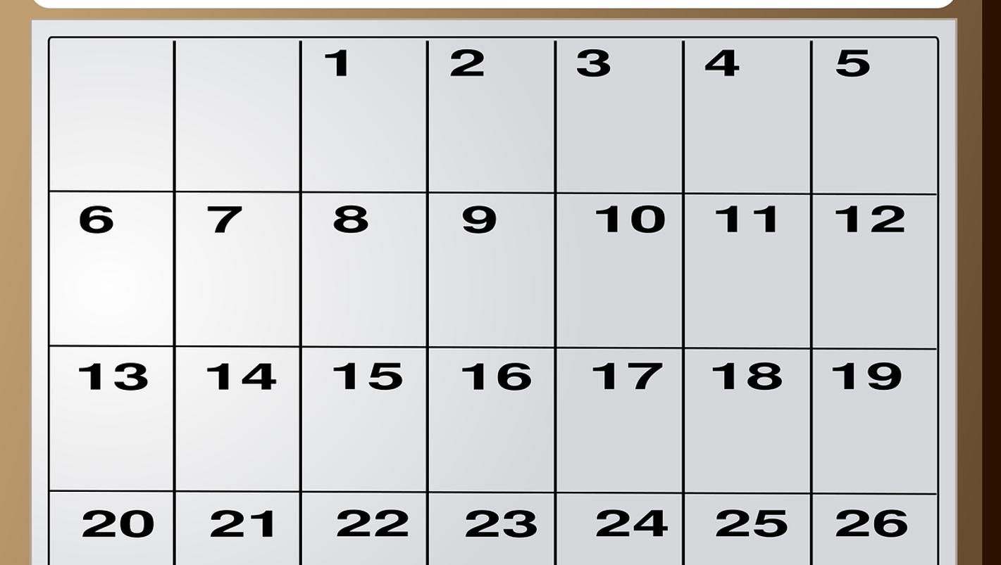 Events calendar - July 14, 2017