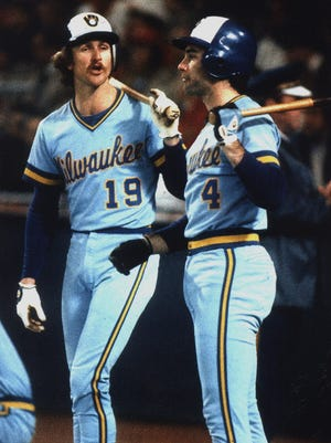 Robin Yount (left) and Paul Molitor helped lead the Brewers to the 1982 World Series. The team hasn't been back since.