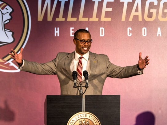 Willie Taggart speaks at his introductory press conference