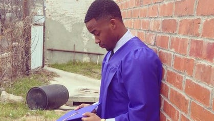 Rod Winzer, 18, from Garland, Texas posted this image to his Twitter account as part of the campaign #IfTheyGunnedMeDown.