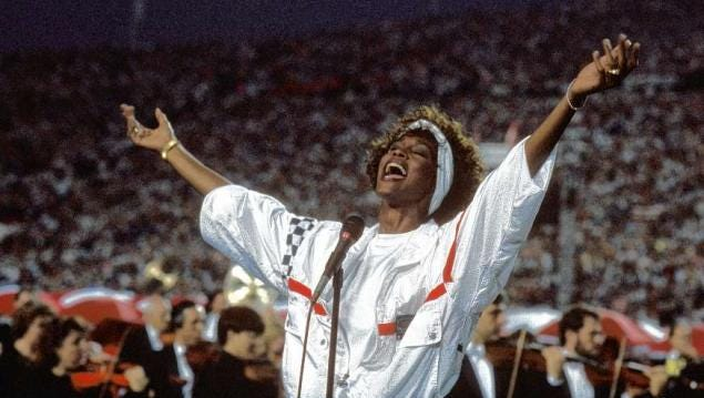 Whitney Houston's rendition of the Star-Spangled Banner at Super Bowl XXV has stood the test of time