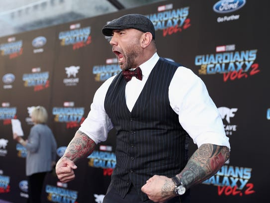 """Dave Bautista, who plays Drax in """"Guardians of the"""