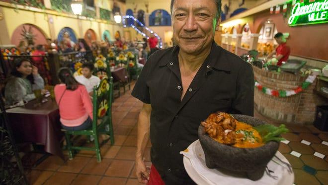 Javier Amezcua, at Javier's Hacienda, shortly after his return to the restaurant originally named El Sol de Tala.