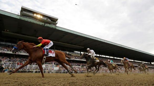 AP APTOPIX BELMONT STAKES HORSE RACING S RAC USA NY