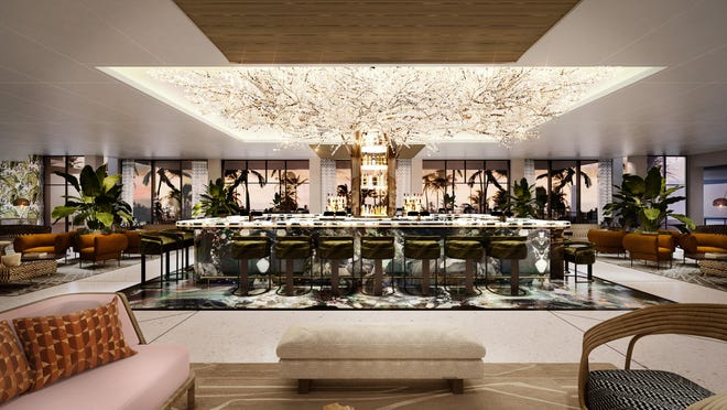 Rendering of lobby bar renovation planned for PGA National Resort & Spa in Palm Beach Gardens.