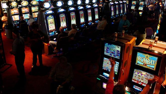 Slot machines at Seminole Casino Brighton in Okeechobee.