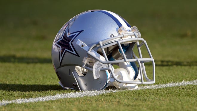 General view  of a Dallas Cowboys helmet before the NFL preseason game against the San Diego Chargers at Qualcomm Stadium.