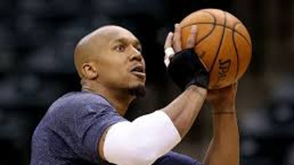 David West, in an undated photo, practices on his form
