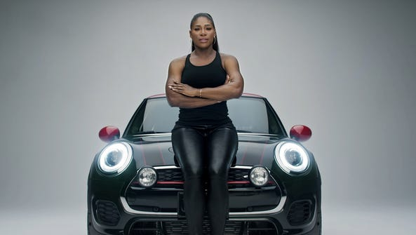Serena Williams will be featured in a Mini USA ad during