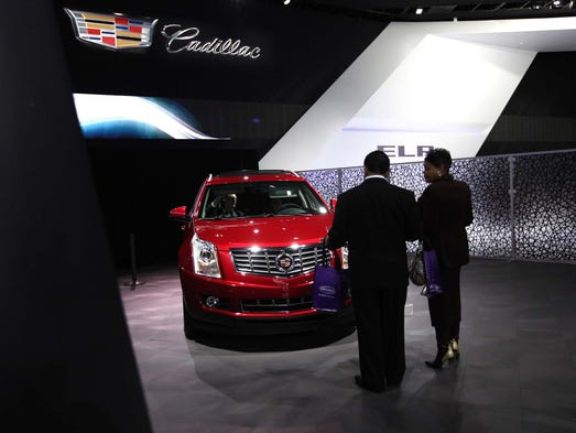 Crowds Flock To First Day Of Detroit Auto Show