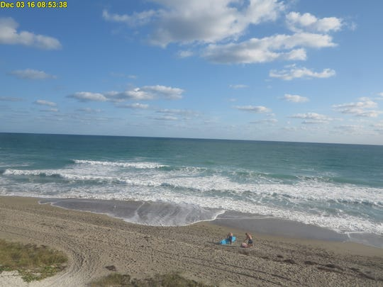 Winds are kicking up the surf today, and that's attracted at least two surfers to Jensen Beach on Saturday morning, where the surf temperature at 4 a.m. was 77, according to the National Weather Service.