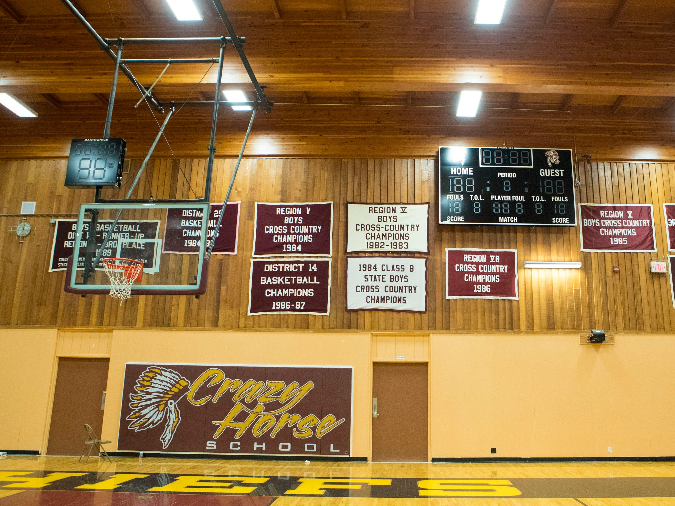 Thanks to a grant from a tribe in Minnesota, Crazy Horse was able to purchase a new scoreboard for its gymnasium prior to last season.