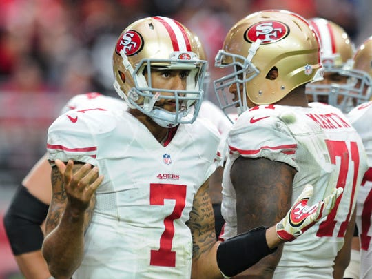 49ers QB Colin Kaepernick's second-half struggles continued Sunday in Arizona.