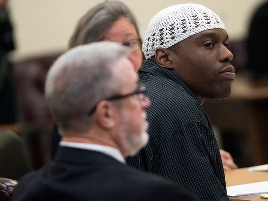 Shawn Rogers sits in court on Friday, Aug. 11, 2017, during the penalty phase of his trial at the Santa Rosa County Courthouse. Rogers was convicted earlier in the week of killing his cellmate.