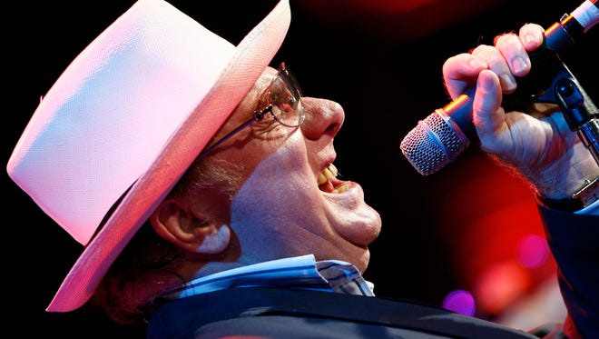 Irish musician Van Morrison performs in 2007 in Montreux, Switzerland.