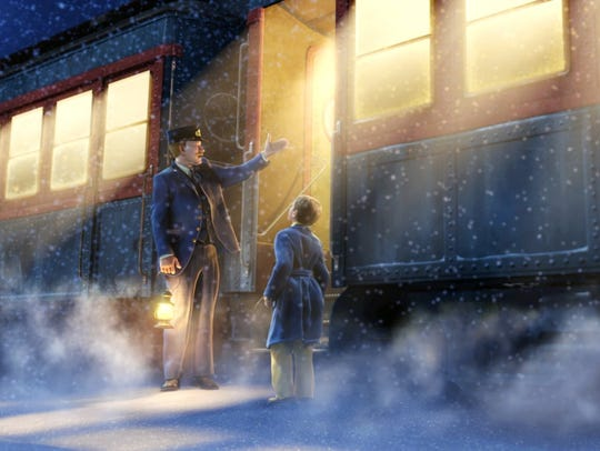 "A scene from the movie ""The Polar Express"""
