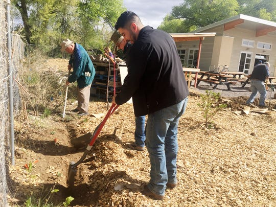Democratic Party of New Mexico Vice Chairman Juan Sanchez III joined the Silver City community for a service project to celebrate César Chávez Day on Thursday.