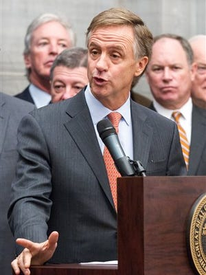Gov. Bill Haslam announces his proposal to expand Medicaid in Tennessee during a press conference at the state Capitol in Nashville on Dec. 15.