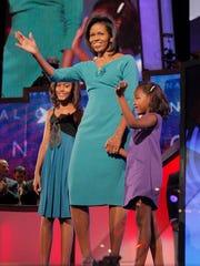 FILE - In this Aug. 25, 2008 file photo, Michelle Obama,